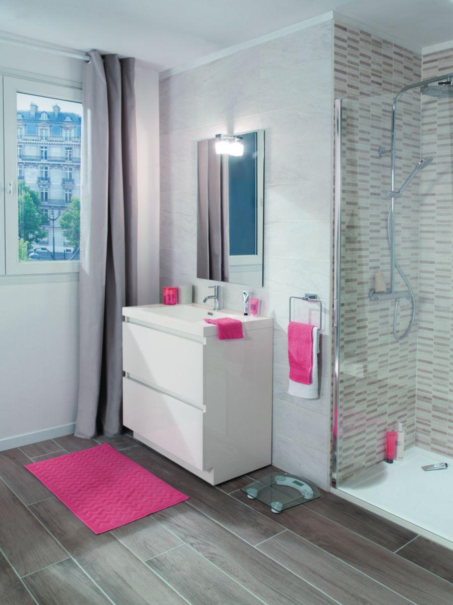 Armoire Salle De Bain 70 Cm Largeur meuble sous vasque primeo 70 cm au sol 2 tiroirs blanc