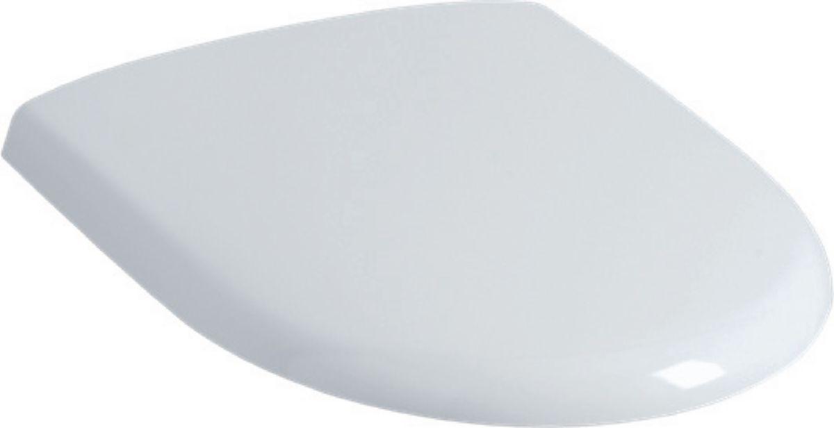 Abattant double pour cuvette suspendue courte PRIMA COMPACT Blanc 000 réf. 46300000