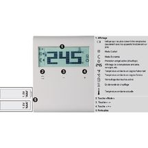 Thermostat d'ambiance sans programmation alimentation � pile R�f RDD100.1 / S55770-T276