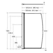 pare bain courbe connect paisseur du verre 6 mm r f l6211aa ideal standard sanitaire. Black Bedroom Furniture Sets. Home Design Ideas