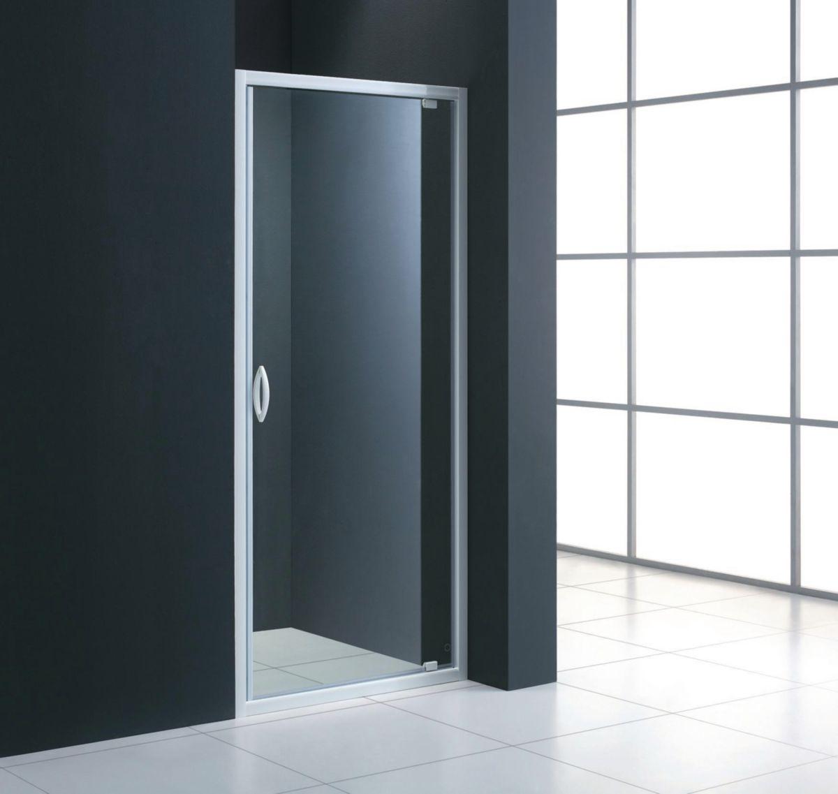latest accs face mezzo porte pivotante extensible de cm verre transparent alterna sanitaire. Black Bedroom Furniture Sets. Home Design Ideas