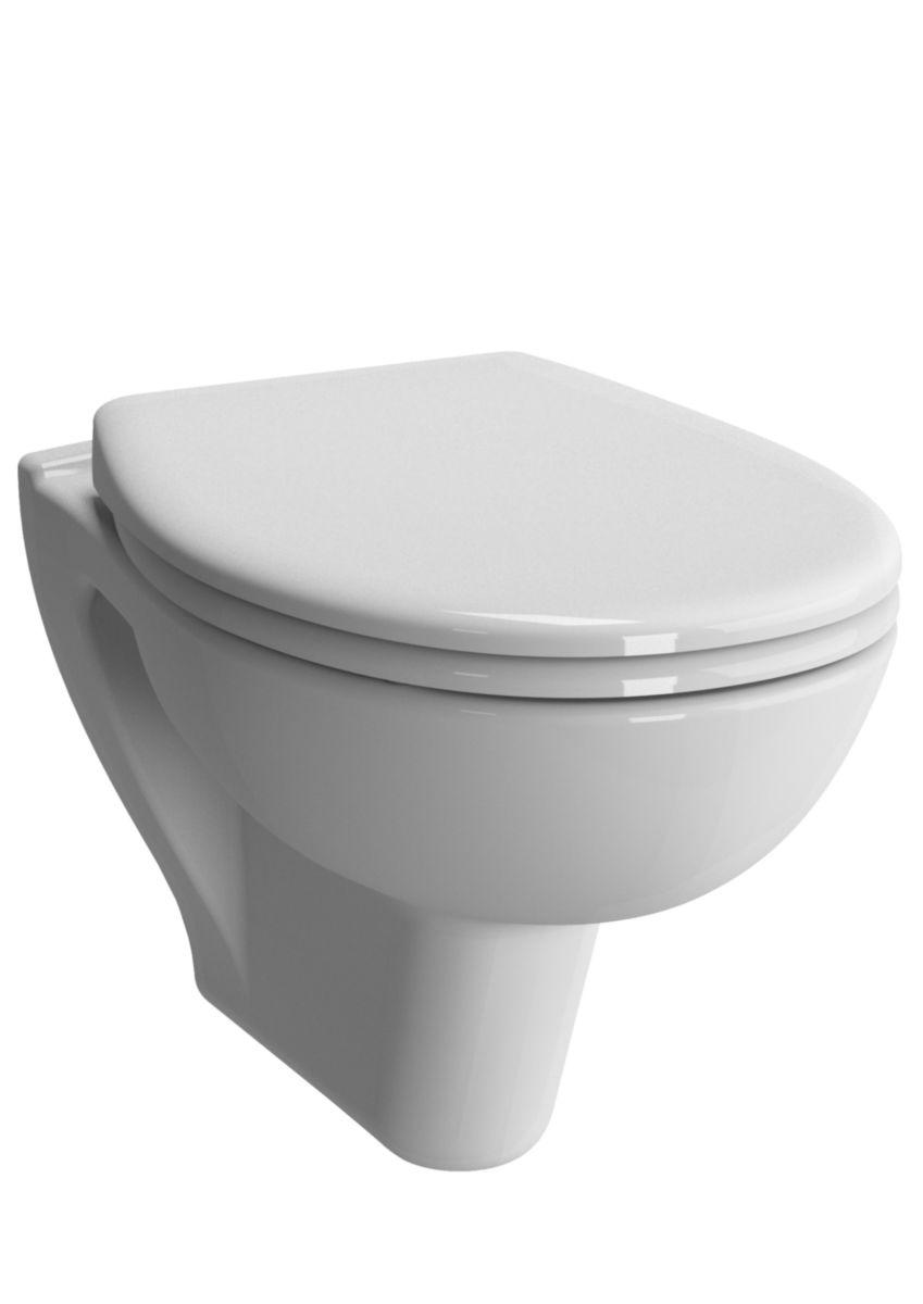 WC suspendu VERS'EAU sans bride, abattant frein de chute.