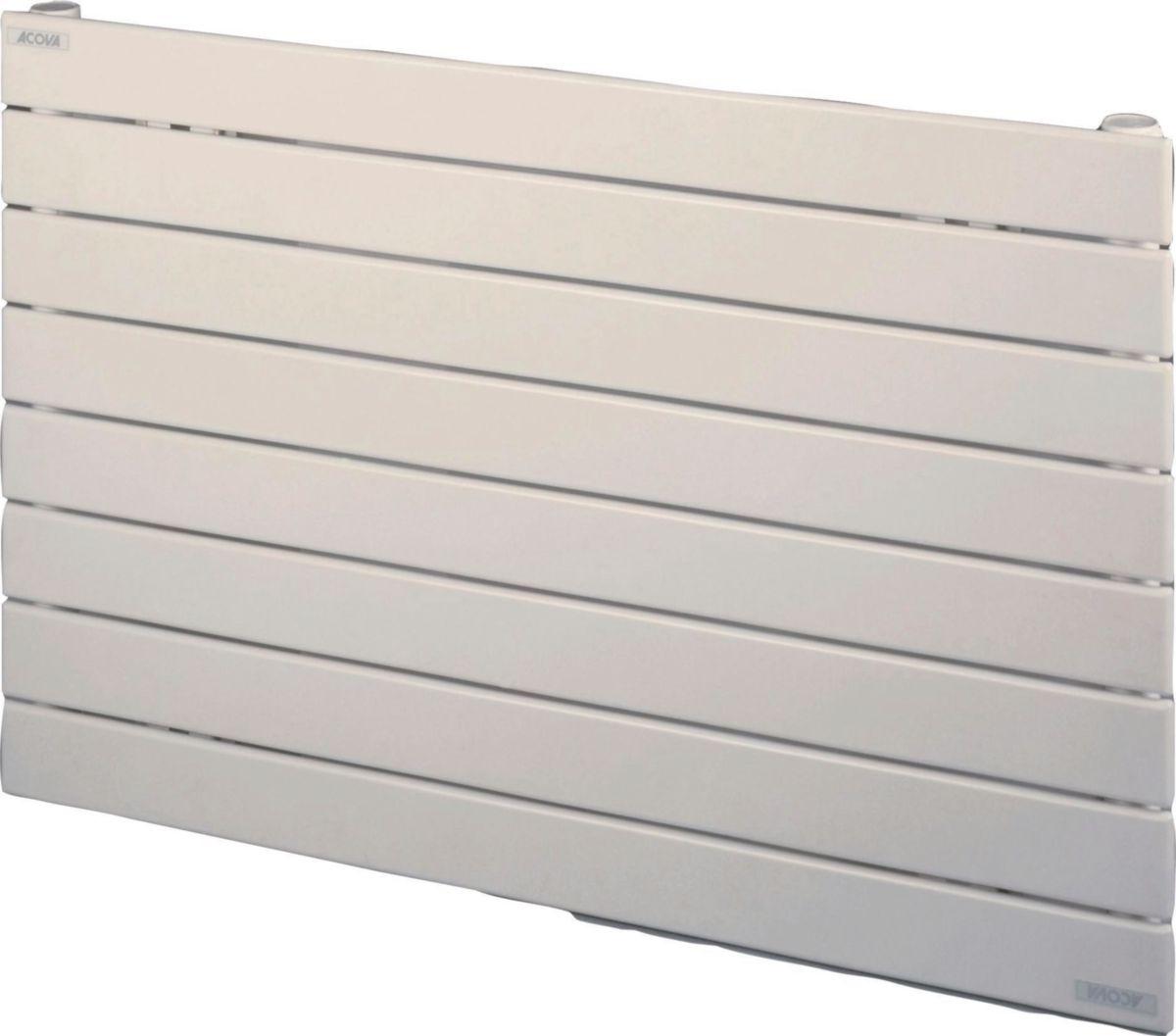 ACOVA - Radiateur FASSANE eau chaude horizontal simple 532 w haut 592  largeur 800 8 éléments blanc réf. VX-059-080 | Cedeo