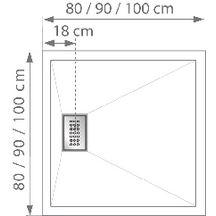 receveur douche extra plat encastrer kinesurf 120x90 cm kinedo douche sanitaire cedeo. Black Bedroom Furniture Sets. Home Design Ideas