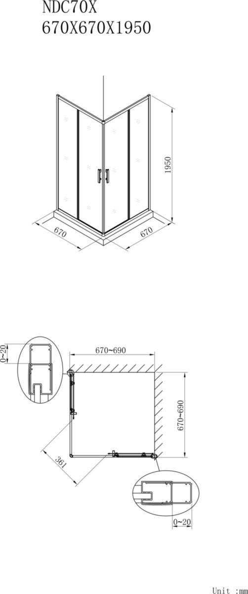 alterna paroi de douche concerto acc s d 39 angle. Black Bedroom Furniture Sets. Home Design Ideas