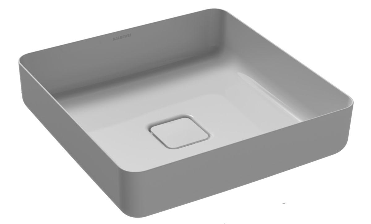 Vasque Carrée MIENA, 3184, 400 x 400, manhattan, effet perlant, sans trop-plein réf. 909506003199