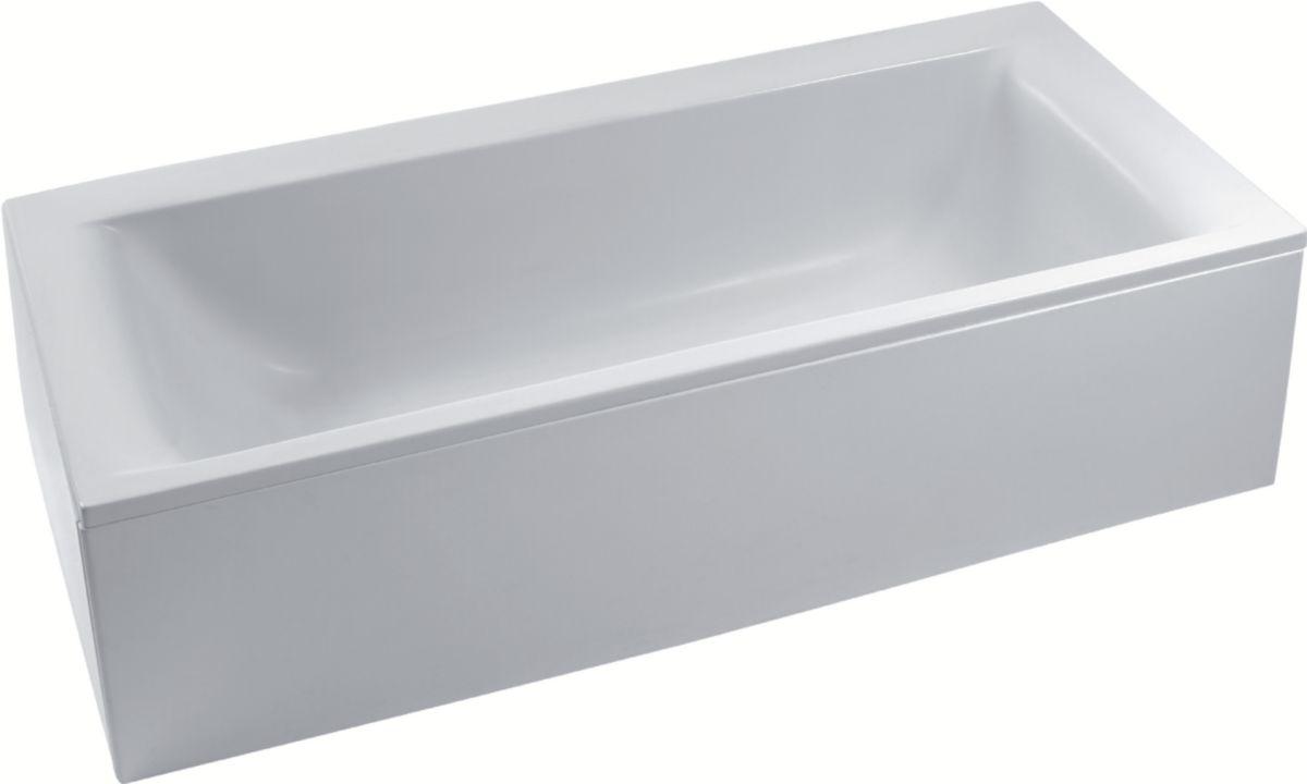 ideal standard baignoire encastrer ou poser connect en acrylique 180x80cm avec trop plein. Black Bedroom Furniture Sets. Home Design Ideas