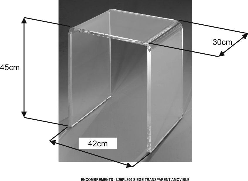 Agreable L29PL800 Siège Indépendant Transparent PLURIEL Réf. L29PL800