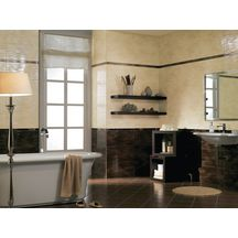 Faïence Arte Design Luna marron brillant listel 4,5x60cm