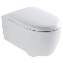 WC suspendu LOVELY sans bride, abattant frein de chute