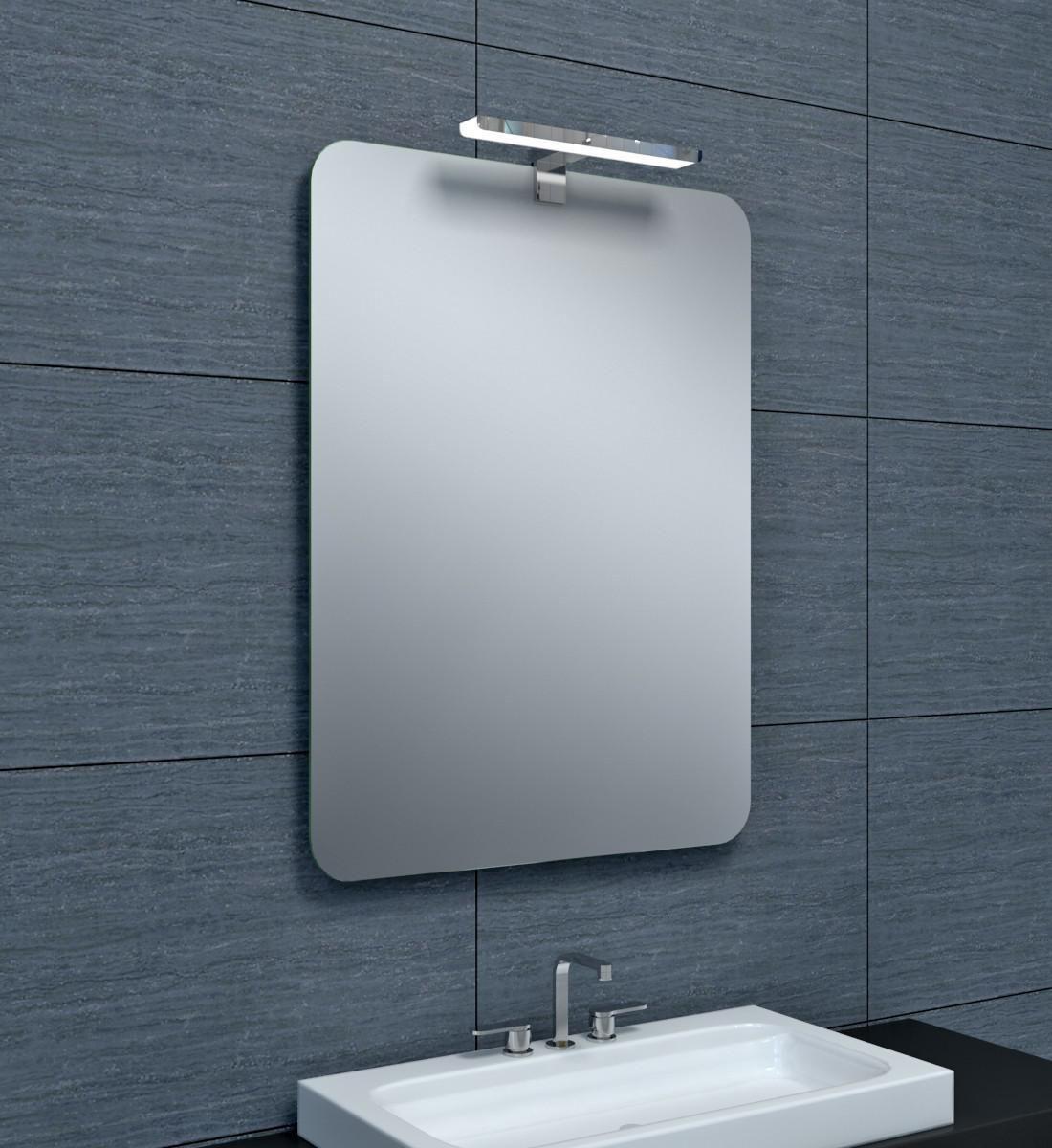 Alterna miroir milan 60 x hauteur 80 cm cedeo - Hauteur d un miroir de salle de bain ...