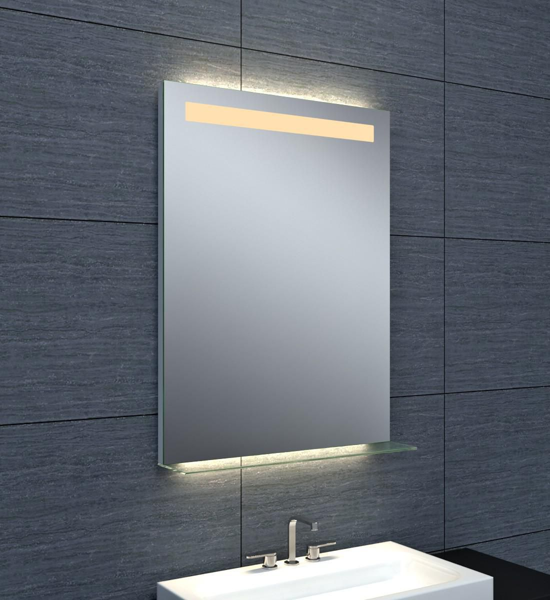 Alterna miroir dubai clairage led avec tablette en - Glace de salle de bain avec eclairage ...