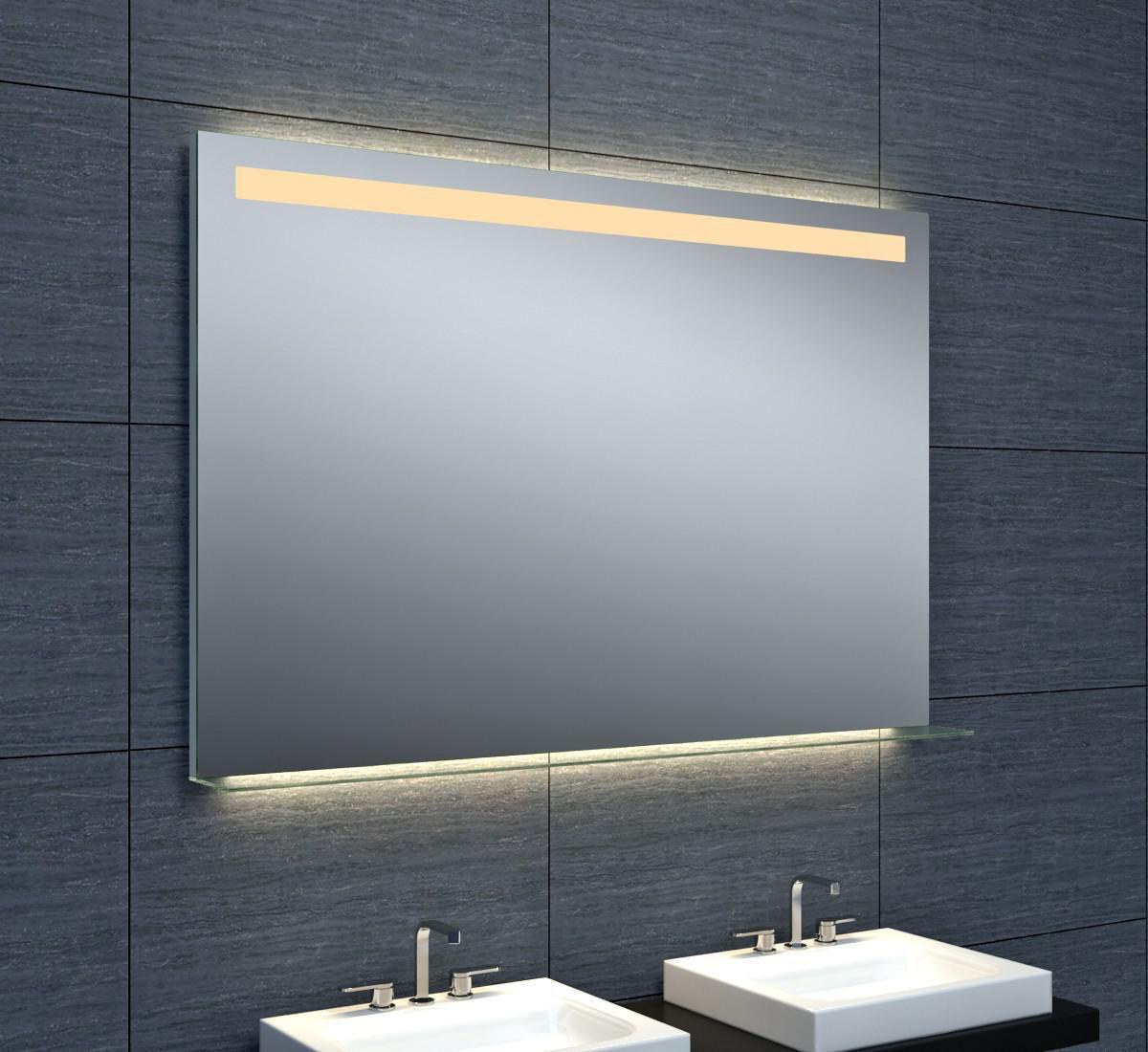 Tablette Salle De Bain 80 Cm miroir dubai éclairage led avec tablette en verre 120 x hauteur 80 cm