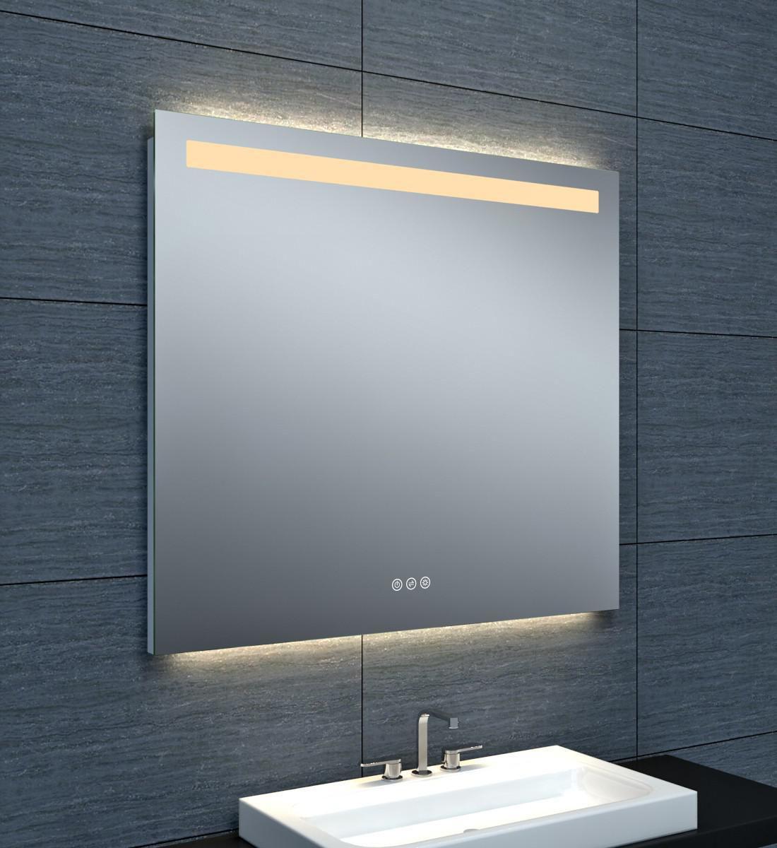 Alterna miroir tokyo clairage led avec variateur 90 x hauteur 80 cm cedeo for Miroir 50 x 90