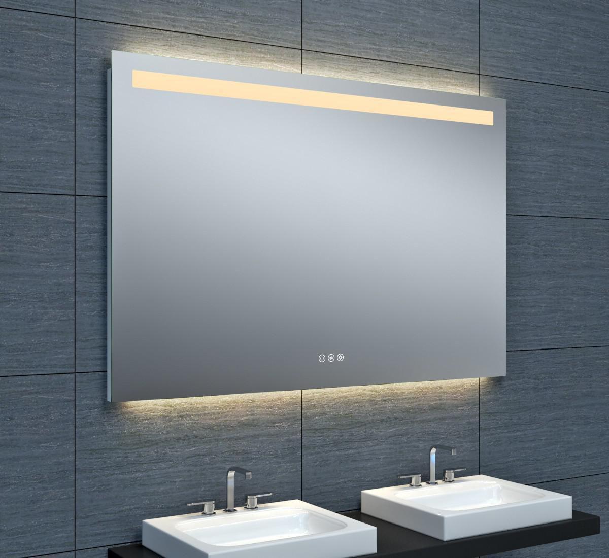 miroir tokyo clairage led avec variateur 120 x hauteur 80 cm alterna. Black Bedroom Furniture Sets. Home Design Ideas