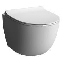 WC suspendu DAILY'O 2 caréné, sans bride, abattant fin, frein de chute