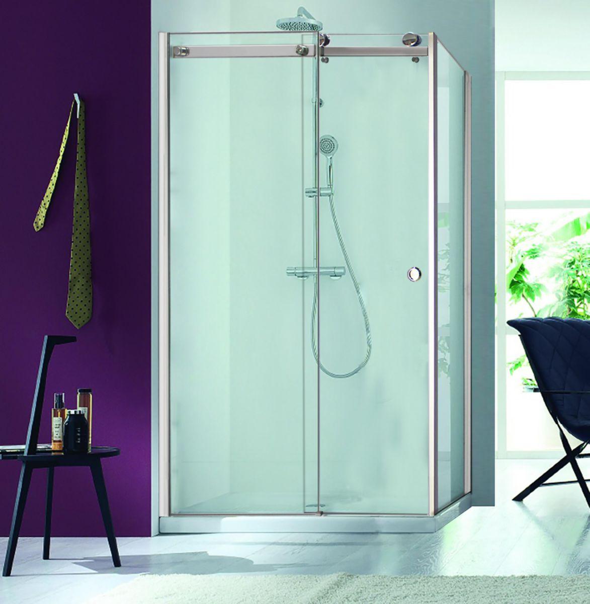 alterna paroi de douche retour design 80 cm cedeo. Black Bedroom Furniture Sets. Home Design Ideas