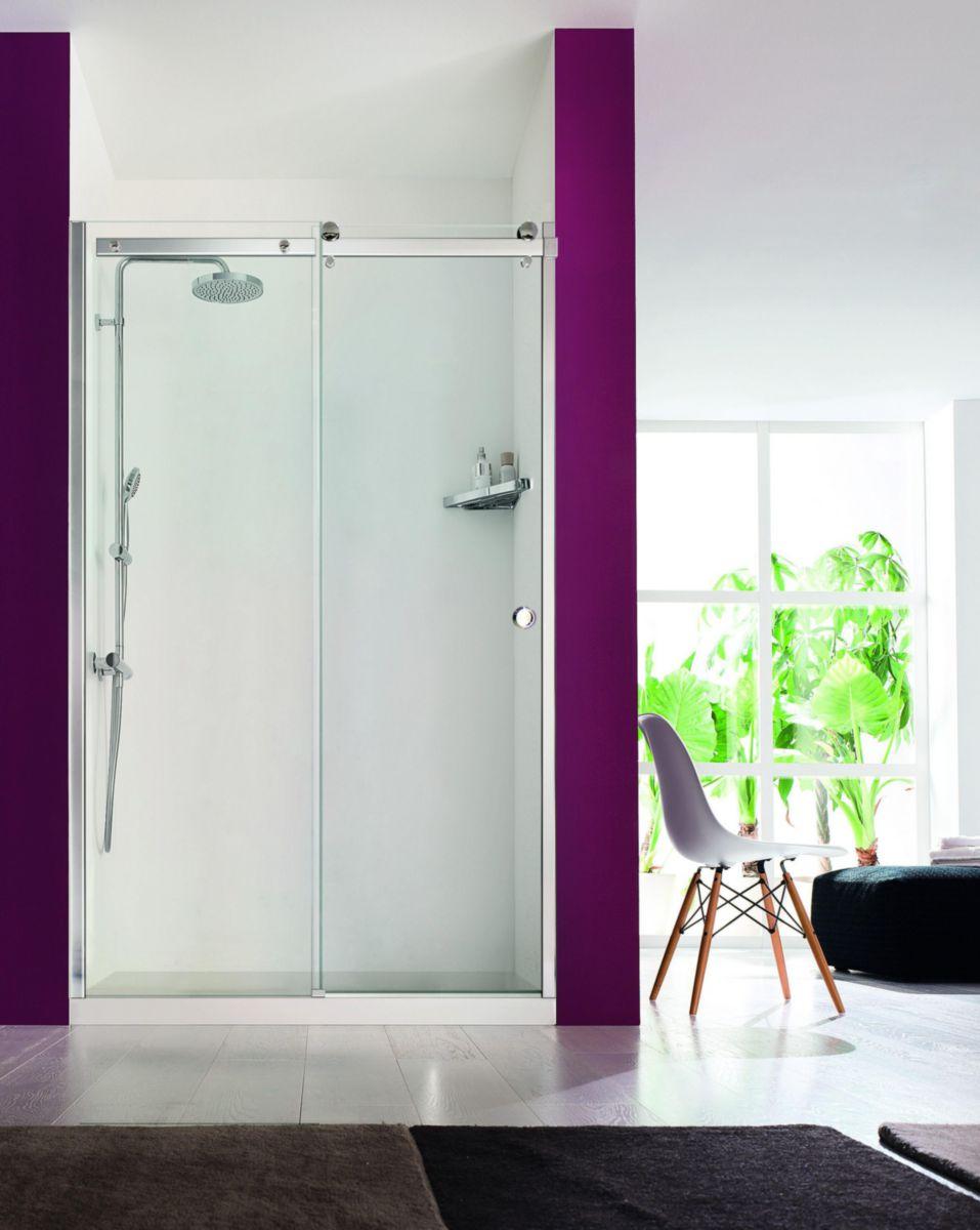 alterna paroi de douche design 140 cm coulissant cedeo. Black Bedroom Furniture Sets. Home Design Ideas