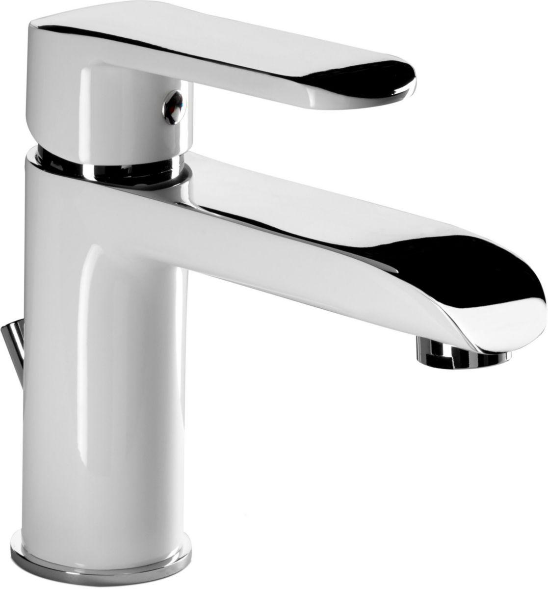 Mitigeur Lavabo Daily Color Blanc Chromé ALTERNA Sanitaire CEDEO
