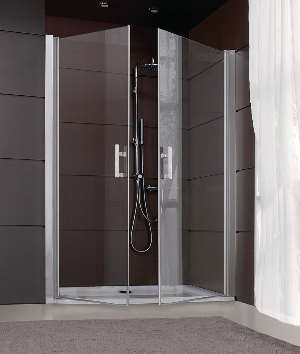 Porte de douche jazz battante 120cm verre transparent - Porte douche battante ...