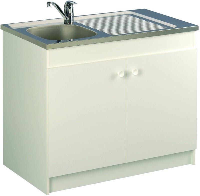 meuble sous vier liberty 90 x 586 x 82 cm 2 portes slection hlm nf blanc rf 200199 aquarine sanitaire cedeo