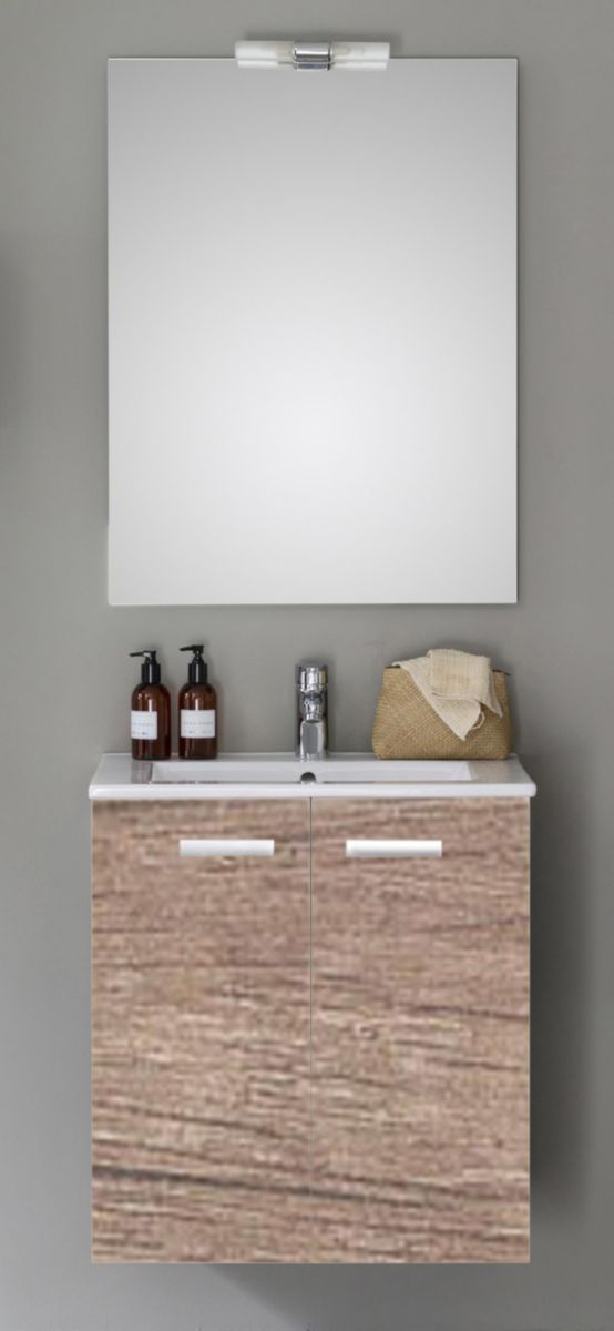 meuble woodstock 2 portes chene nebraska 60 cm alterna sanitaire cedeo