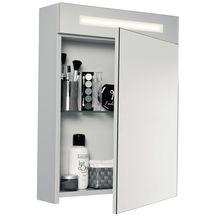 Armoire de toilette seducta 50 cm 1 porte avec miroir - Armoire de toilette 3 portes miroir eclairage allibert ...