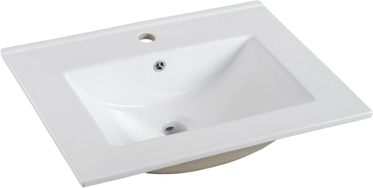 Plan De Toilette Woodstock 2 En Céramique 60 Cm Alterna