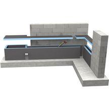 Panneau de construction WEDI 2500x600x40 mm Réf. 01-00-00/040 - WEDI ...