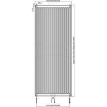 radiateur panneau altech 6 connexions vertical habill type 21 hauteur 2000 mm largeur 400 mm. Black Bedroom Furniture Sets. Home Design Ideas