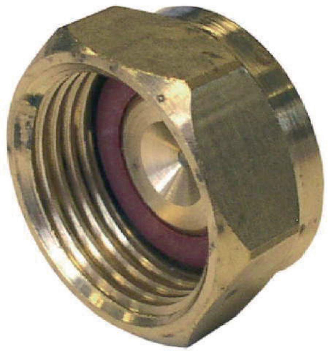 Bouchon à joint plat gaz avec joint BD2303 F 3/4 DN : cal. 15 réf 0230315