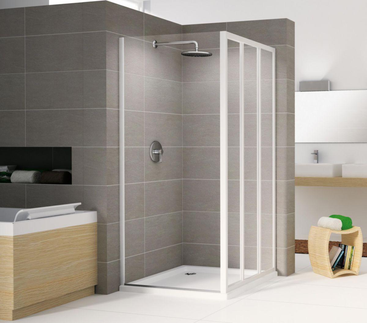 Paroi de douche riviera f 80 78 cm extensible jusqu 39 82 - Pose porte douche verre ...