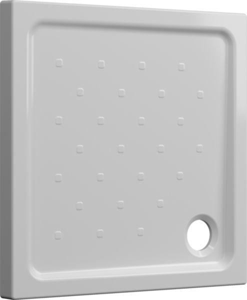 Receveur à poser SEDUCTA 2 Extraplat 80X80 Blanc