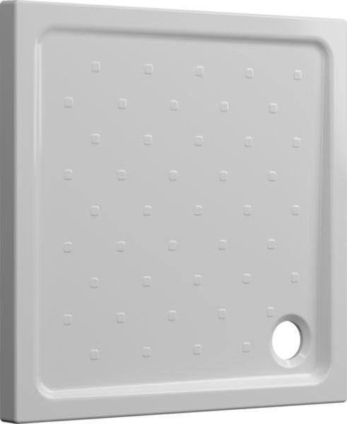 Receveur à poser SEDUCTA 2 Extraplat 90X90 Blanc