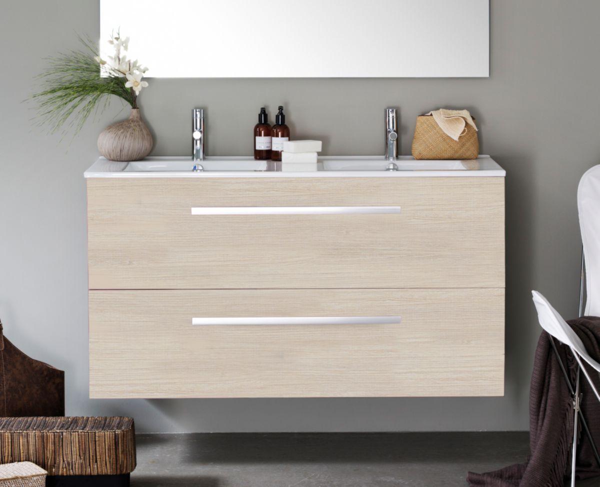 Alterna meuble 2 tiroirs 120 cm concerto bois clair cedeo - Woodstock meubles ...