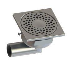 siphon de sol 1550l avec rosette libre et garde d 39 eau 50 mm inox 150x150 mm limatec. Black Bedroom Furniture Sets. Home Design Ideas