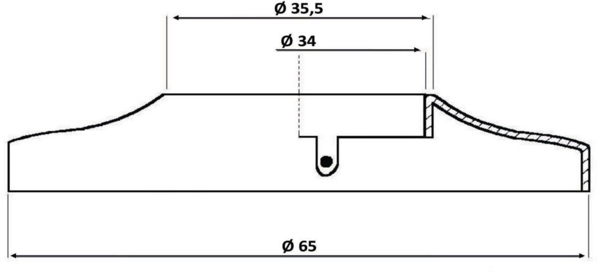 Rosace articulée, 70 x 34 Chromée