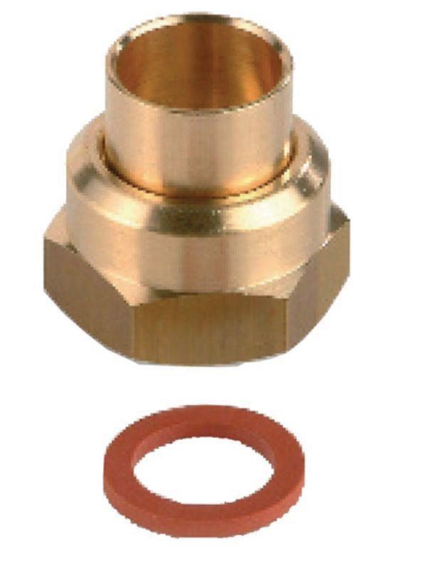 Raccord P45-41 2 pièces à écrou tournant à braser sur tube cuivre D14 pour butane propane sous coque Réf PP04525