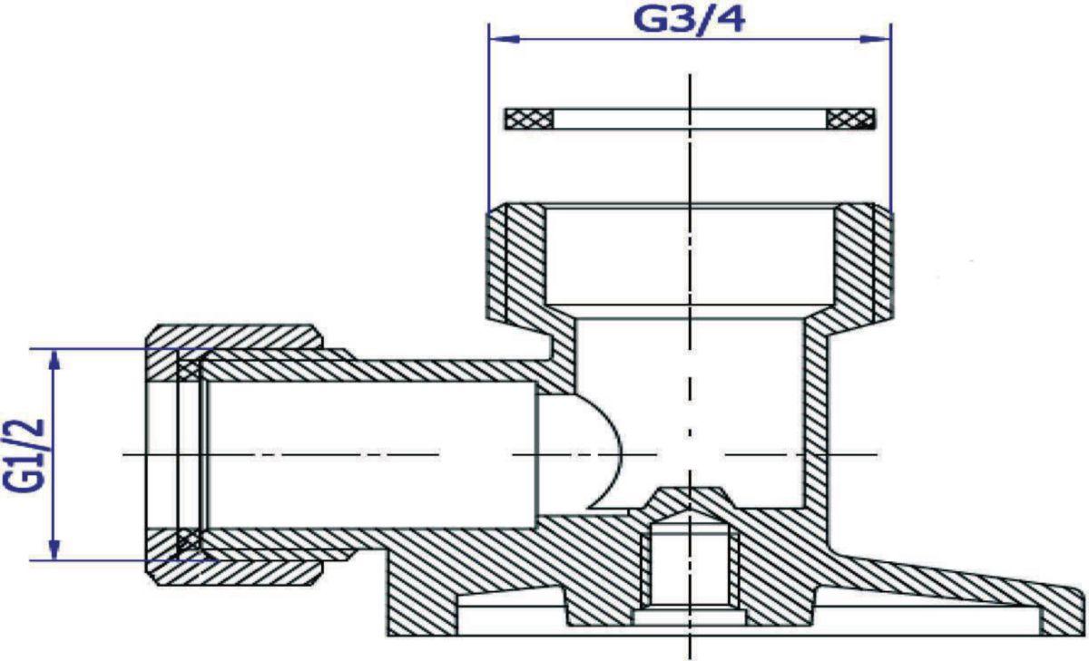 Raccord applique mm diamètre 15 x 21 20 x 27 laiton réf. 401582