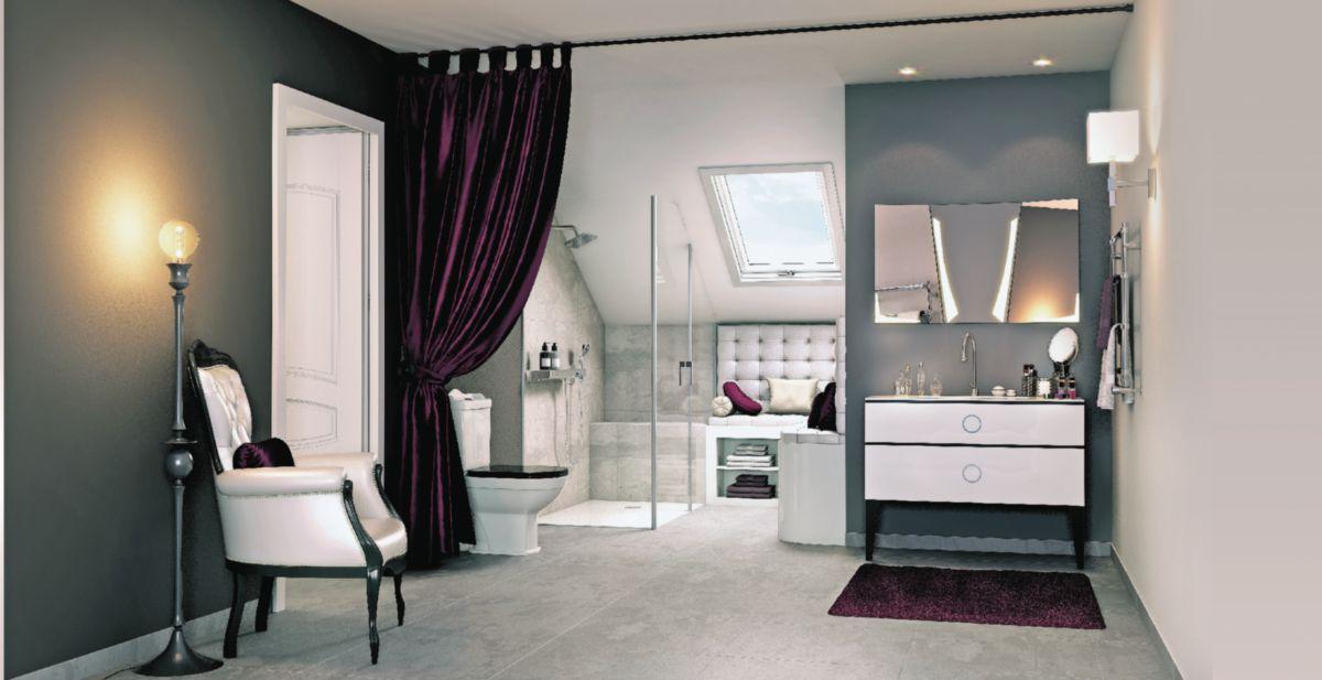 Meuble salle de bain JOLIE MOME blanc brillant 120 cm | Envie de ...