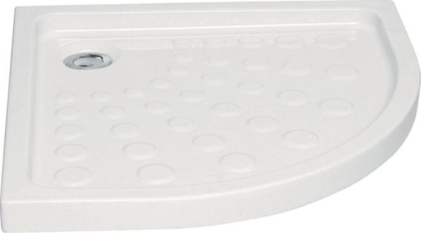 Receveur d'angle à poser SEDUCTA, 80x80cm, extra-plat, blanc