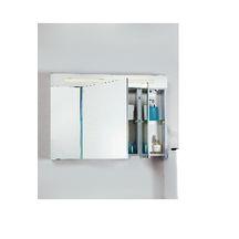 Armoire de toilette seducta 90 cm 1 porte centrale 45 cm for Miroir seducta 90 cm