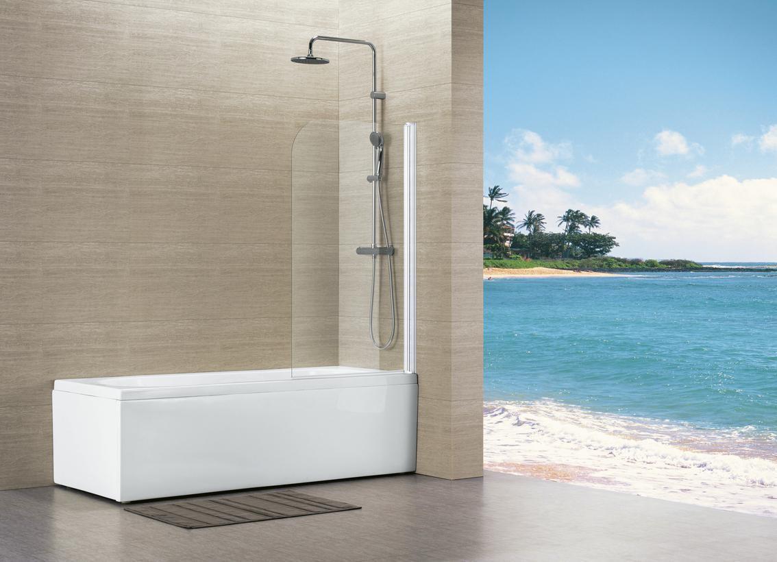cool pare baignoire vers eau x cm profil blanc paisseur du verre mm alterna sanitaire brossette. Black Bedroom Furniture Sets. Home Design Ideas