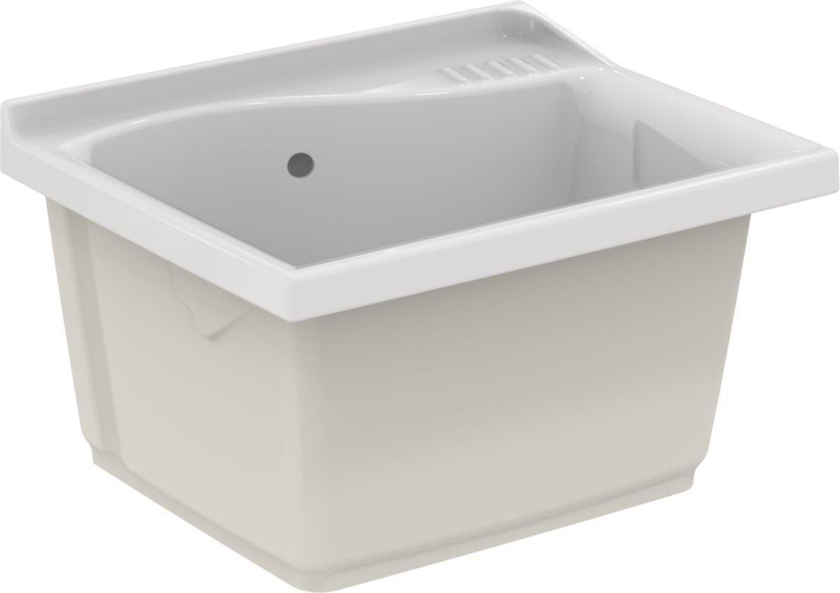 porcher bac laver lago lg 60cm c ramique blanc r f. Black Bedroom Furniture Sets. Home Design Ideas