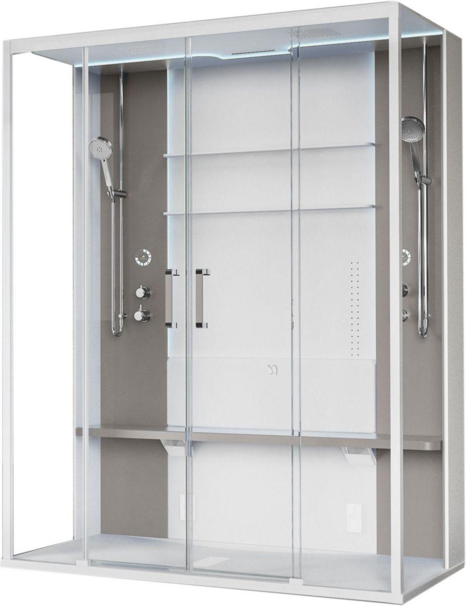 Novellini cabine de douche avec hammam skill 2a 160x97 - Cabine de douche novellini ...
