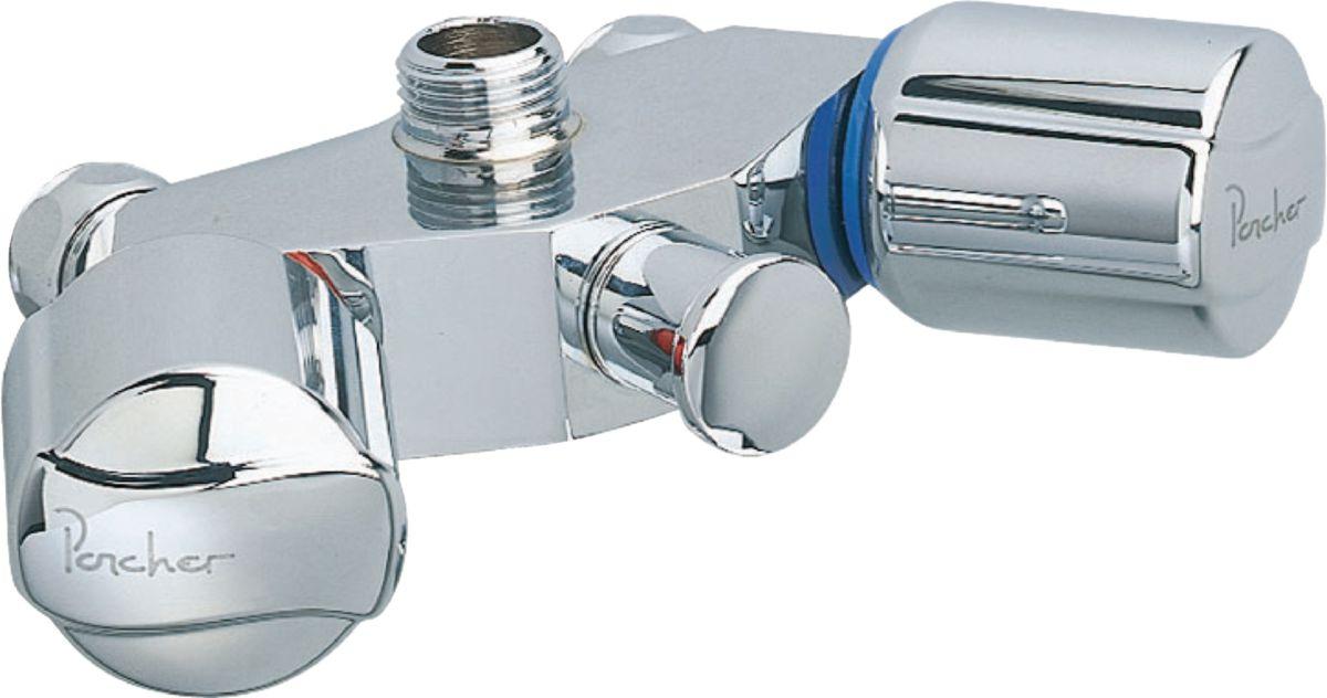 Mélangeur de bain-douche AMBRE Plus C sans bec, sans raccord ni rosace, têtes 15 x 21 à disques céramique, chromé réf. D2047AA