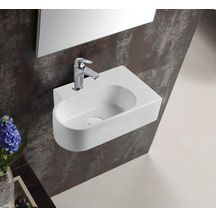 Lave-mains céramique PLENITUDE asymétrique angle droit