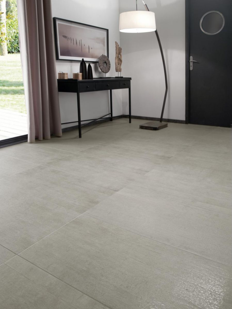 Arte design carrelage sol int rieur gr s c rame maill free blanc 30x60 cm cedeo for Carrelage sol interieur