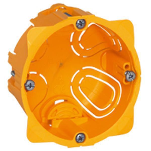 Boîte à encastrer ronde pour cloison sèche - 1 poste - ø 67 mm x 40 mm