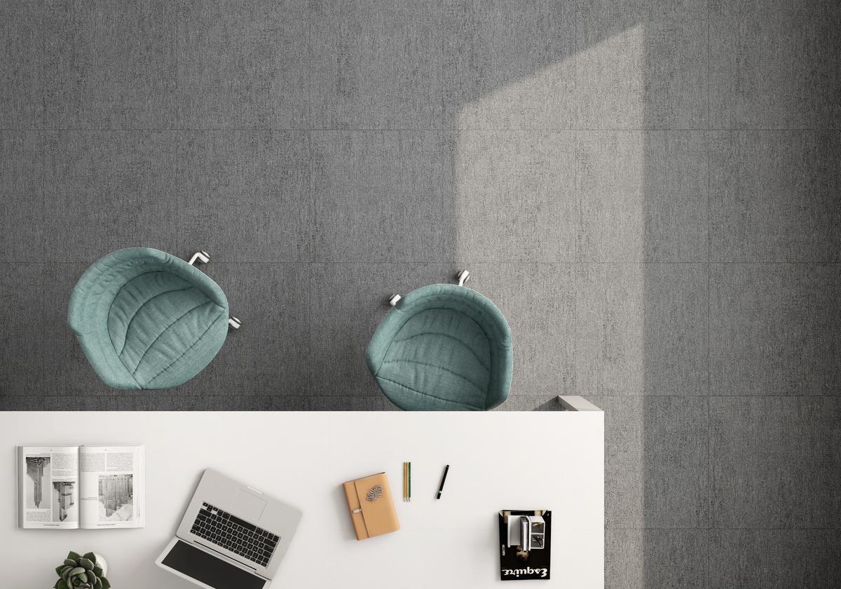 Carrelage sol intérieur grès cérame émaillé Tweed - Grafito - 30x60 cm